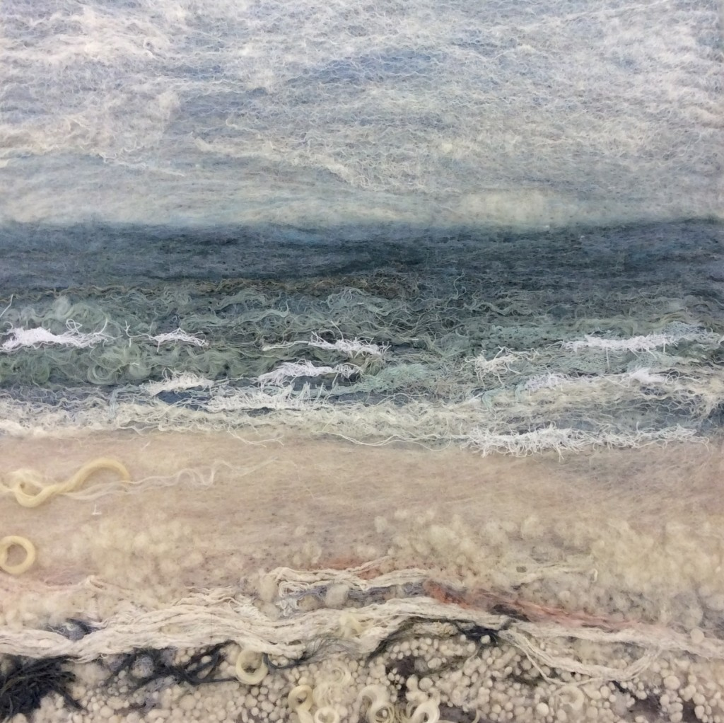Sea Sketch, Felt, 29x29cm, 2014